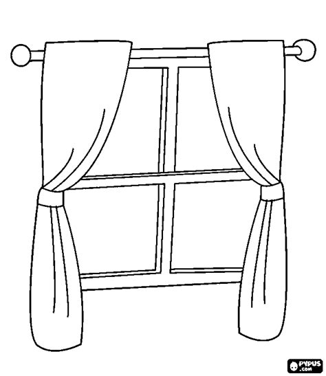 coloring page for window window coloring pages