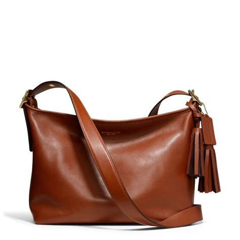 Coach Legacy Leather coach legacy eastwest duffle in leather in brown lyst