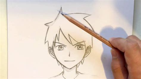 anime hairstyles guys tutorial how to draw anime boy hair step by step archives