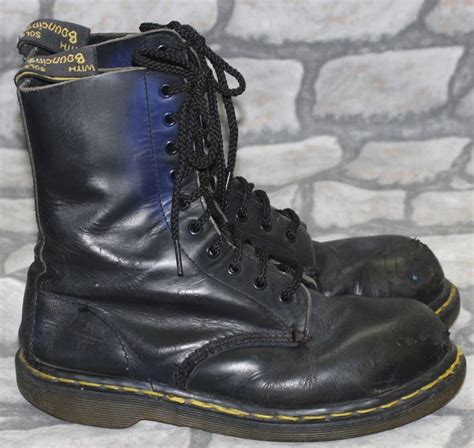skinhead shoes made in dr martens martins black 8 steel toe