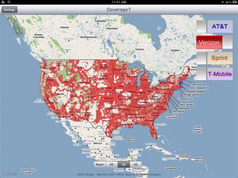 verizon coverage canada map map of verizon 4g coverage