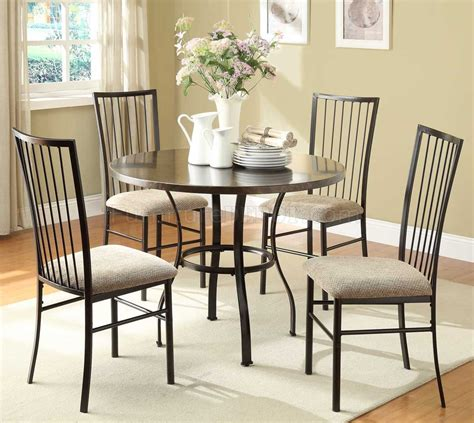 Dinette Sets Carlson 2511 5pc Dinette Set By Homelegance In Coffee