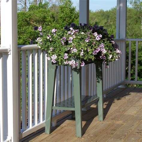outdoor plant bench garden planter potting bench outdoor patio deck potted