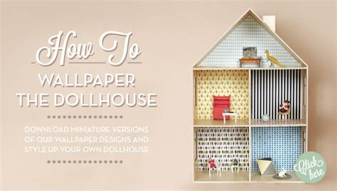doll house wallpaper ferm living dolls house wallpaper room to bloom