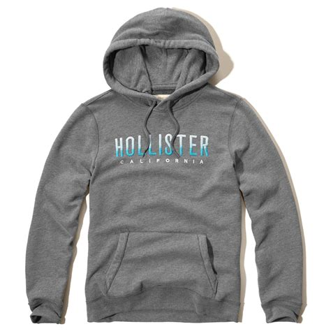 Sweater Jaket Hoodie Eiger Logo lyst hollister ombre embroidered logo sweatpants in gray