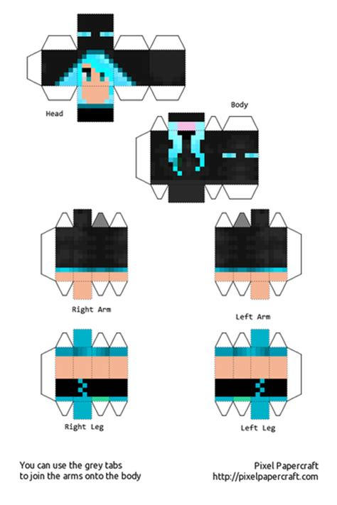 Papercraft Websites - minecraft skin papercraft pictures to pin on