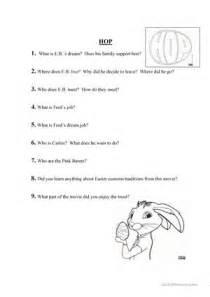 Easter movie hop worksheet free esl printable worksheets made by