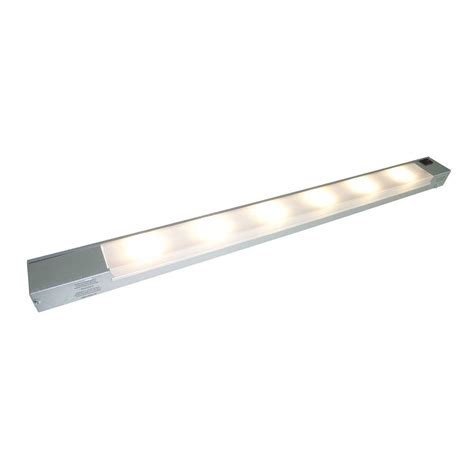 under cabinet linear lighting illume lighting under cabinet lighting 6 light led satin