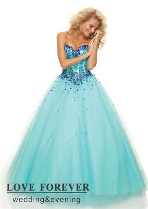 wholesale 2015 sweetheart ball gown prom dresses crystal