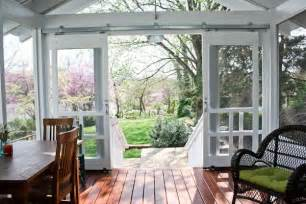 open sliding screen deck doors for the front porch decoration for house