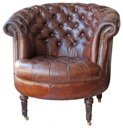 traditional leather armchairs melange home barrel leather armchair view in your room