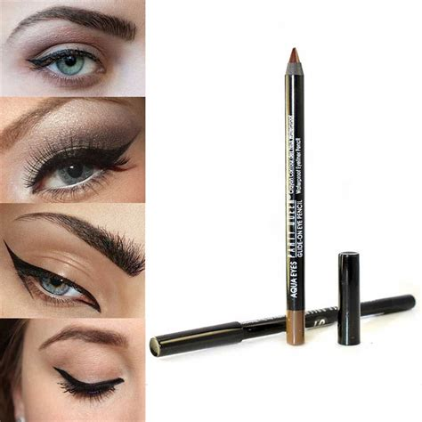 mascara eyeliner lowen 2in1 black 1pcs waterproof eye liner pen smooth gel eyeliner pencil