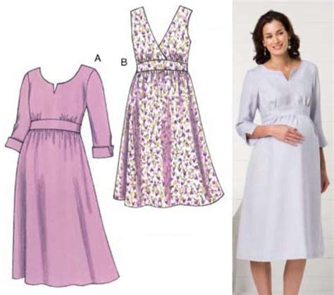design clothes sewing kwik sew maternity empire dress pattern discount