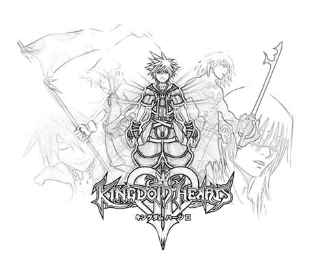Free Coloring Pages Of Kingdom Hearts 2 Kingdom Hearts Coloring Page