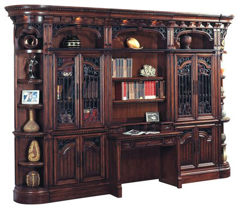 parker house wellington library bookcase wall unit 5 ph parker house barcelona library 5 piece bookcase wall with