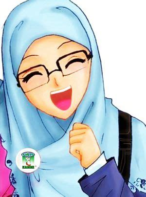 gambar dp wa animasi muslimah bergerak terbaru kartun
