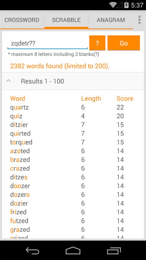 zy words scrabble word solver android apps on play