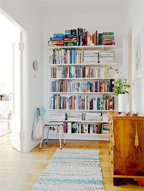 Small Space Secrets Swap Your Bookcases For Wall Mounted Bookshelves For Small Spaces