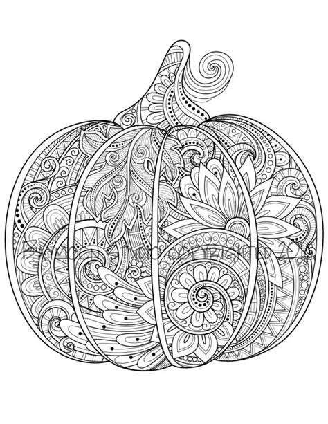 pumpkin coloring pages for adults paisley pumpkin coloring page printable coloring by