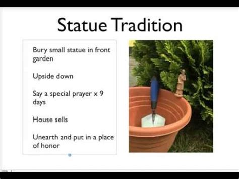 st joseph selling house how to use a saint joseph statue to sell a house st joseph statue explainer video