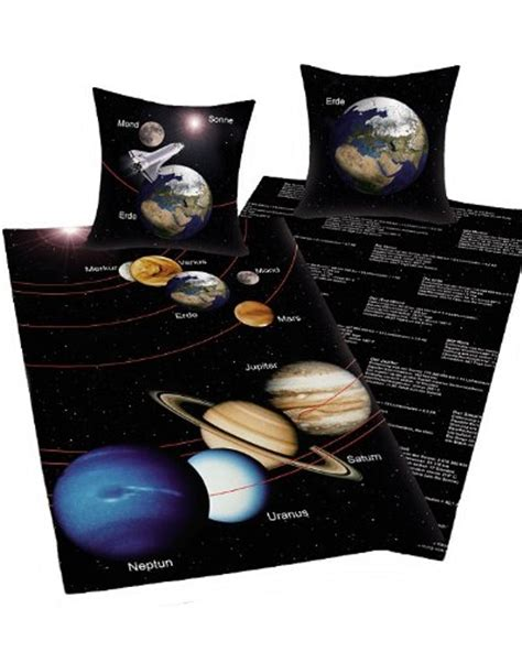 housse de couette planete parure housse de couette galaxie planete espace