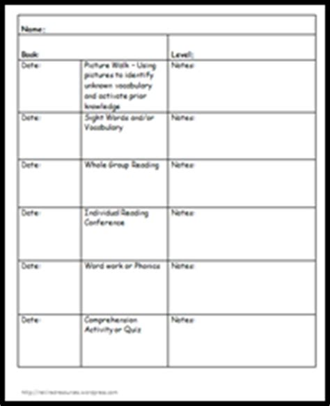 Classroom Freebies Too Guided Reading Data Form Low Inference Notes Template
