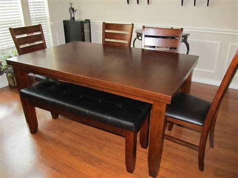 dining room table with a bench dining room table with bench seat diningroom setscom