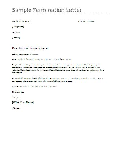 Termination Letter Template Uae Pics Photos Business Letter Sample Termination Letters