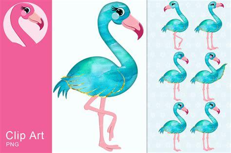 flamingo clip blue flamingo watercolor clipart by the friendly flamingo