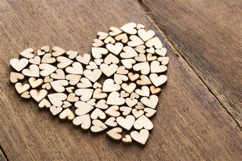 stock photo  craft wooden hearts freeimageslive