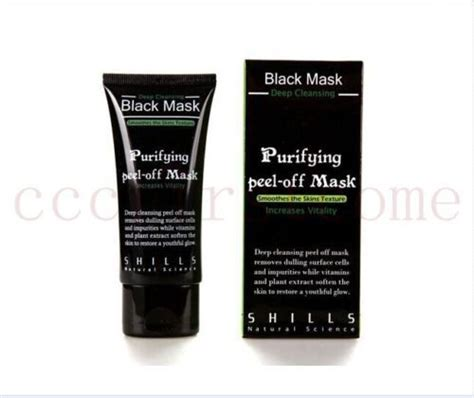 Shills Black Mask Cleansing 100 Original 1 shills cleansing black mask purifying peel mask clean blackhead in treatments