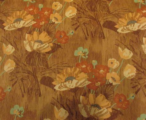hawaiian upholstery fabric vintage peach aqua hawaiian print nylon velvet