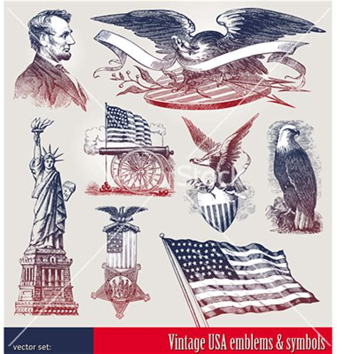 revolutionary war tattoo set of american symbols vector on vectorstock 174 4th of