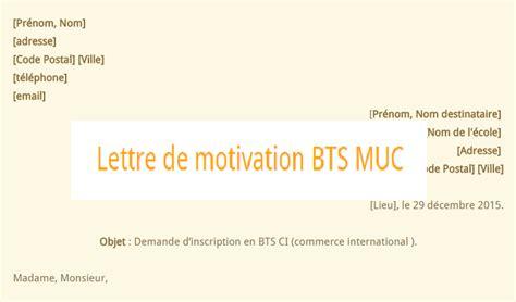 Lettre De Motivation Ecole Bts Ag lettre de motivation bts muc ekogest 233 conomie gestion