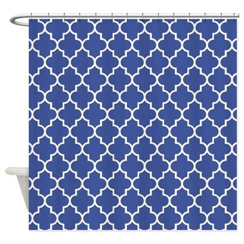 shower curtain pattern navy blue quatrefoil pattern shower curtain by