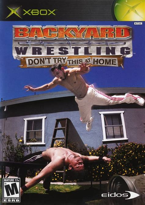 backyard wrestling xbox 360 backyard wrestling don t try this at home box shot for