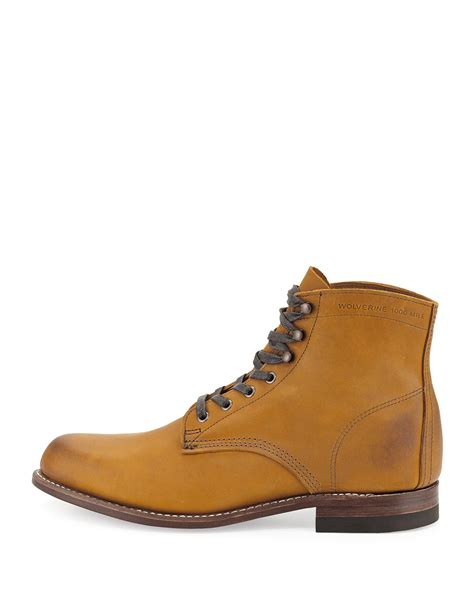 wolverine 1000 mile boots in brown for lyst