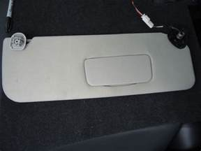 Vanity Mirror On Sun Visor Right Passenger Side Grey Cloth Lighted Sun Visor Vanity