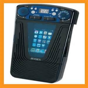 Bathroom Radio With Ipod Dock Jiss 85 Ipod Mp3 Shower Radio With Clock Ebay