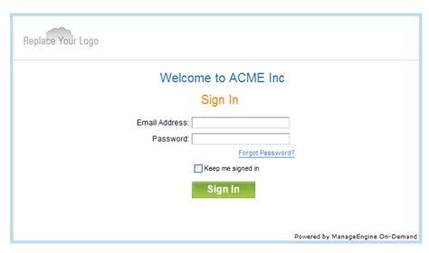 Www Desk Login by Customized Domain Help Desk Manageengine Servicedesk Plus On Demand