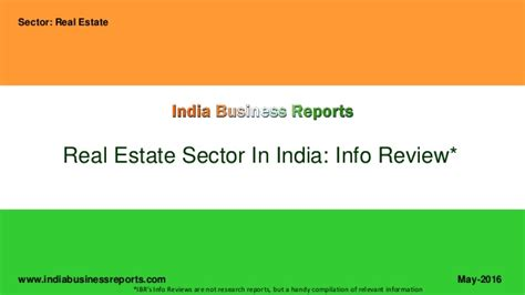 Mba In Real Estate In India by Real Estate Sector In India