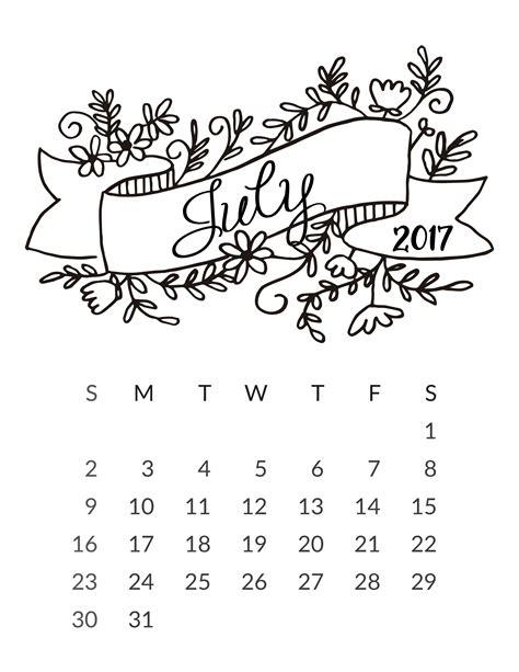 Print Calendar Month July 2017 july 2017 calendar calendar 2017 printable