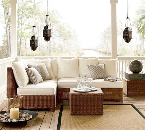 wicker sectional sofa indoor rattan sectional sofa indoor modern style home design ideas