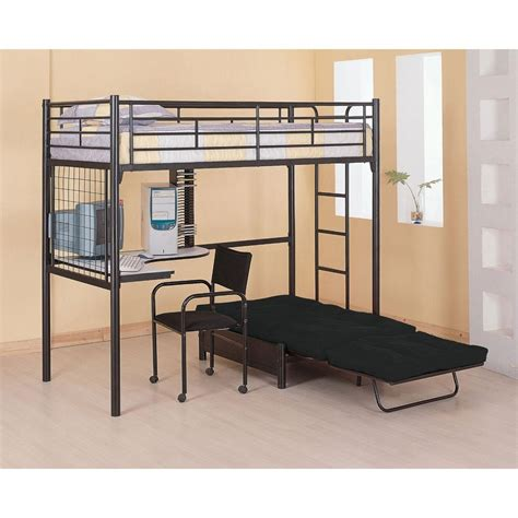 bunk bed with single futon and desk bunk bed with futon home loft bunk bed with futon