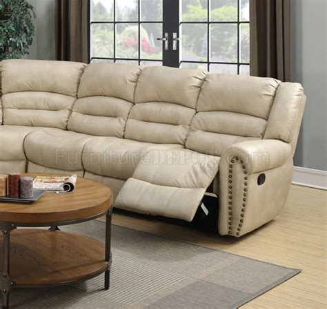Leather Motion Sectional Sofa G687 Motion Sectional Sofa In Beige Bonded Leather By
