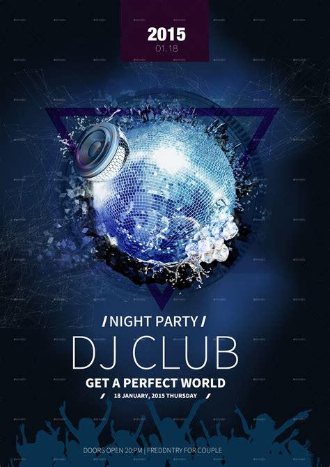 club dj flyer template psd by kelsoz graphicriver