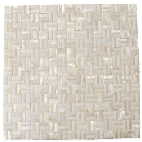 groutless tile shop 12 x 12 serene white 3d groutless polished pearl