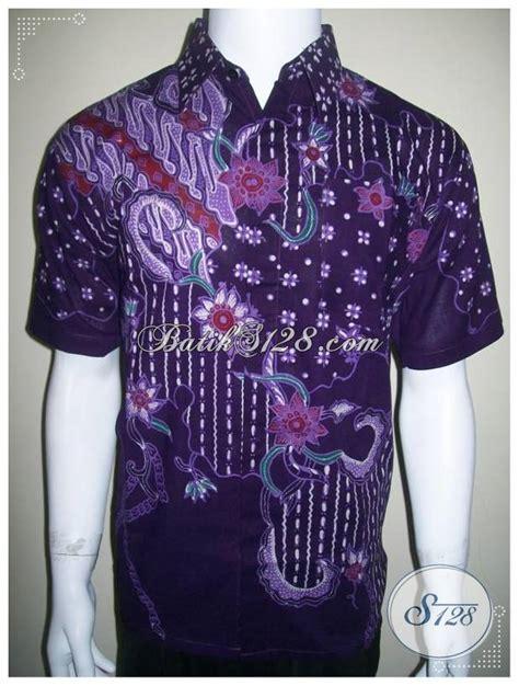 Hem Batik Tulis Katun Murah F10417014mrh Kemeja Batik Anak Ukur 3 kemeja batik tulis ungu hem pria lengan pendek murah