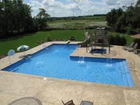 l shaped pool designs custom l shaped pool designed by aqua pools and built in orland park il pool maybe