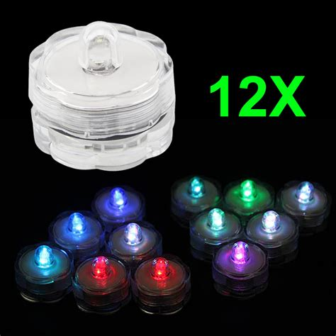 12pcs super bright submersible waterproof mini led tea